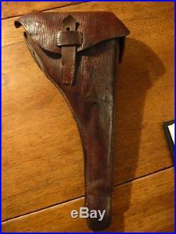 Etui holster pour Luger artillerie en cuir corduroy