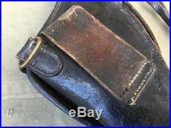 Étui jambon revolver modèle 1892 cuir noir avec sa dragonne