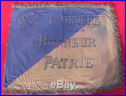 FANION du 104e RÉGIMENT d'ARTILLERIE LOURDE Guerre 1914-1918