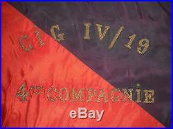 Fanion Du 4 Btl Du 19 Rgt Genie Avec Hammpe 1915