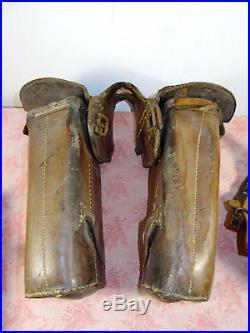 Fonte et couvre fonte 1895 gendarmerie à cheval accessoire selle militaria Of