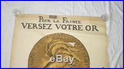 GUERRE 14-18 VERSEZ VOTRE OR POUR LA FRANCE affiche originale Abel FAIVRE WW1