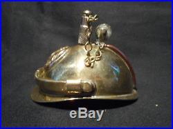 Guerre 14/18 Briquet de poilu en forme de casque Laiton et cuivre