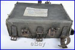 Havresac As de Carreaux 1893 Noir avec bretelles Poilu 14 18 équipement ww1