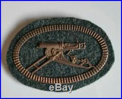 Insigne de bras de Mitrailleur allemand 1914-18 marquage CE JUNCKER Berlin