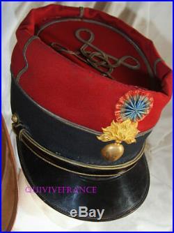 KEPI Sous-Lieutenant d'INFANTERIE 1883-1910 avec PLUMET & BOITE
