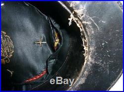 Képi Armée d'Afrique Interprète de langue Arabe Velours Noir Boutons au sphinx