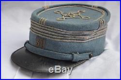 Kepi Bleu Horizon Colonel Dragon-chasseur-hussard-cuirassier Guerre 1914/1918