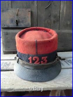 Képi Mle 1884 Troupe 123éme RI WW1 14-18