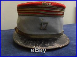Kepi Off. Cavalerie Legere C. E 17°regiment Chasseur A Cheval Nominatif Mpf 1918