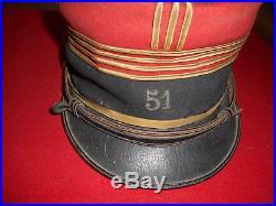 Kepi Off Fr Mle 1890/1914 Du 51 Rgt D Infanterie De Beauvais