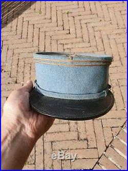Képi de lieutenant Bleu Horizon TBE avec nominette datée 1916
