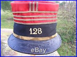 Képi haut de commandant du 128 eme régiment d'infanterie 1880/1914