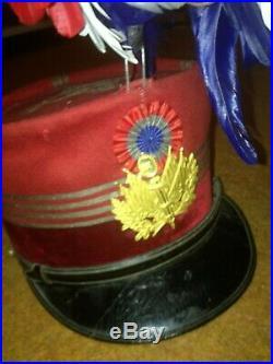 Képi service de santé WW1 avec son plumet tricolore