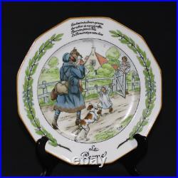 LIMOGES 10 assiettes La Grande Guerre Dessins de Job LANTERNIER 1917