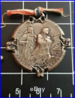 Lot 2 Médailles Serbes 1914 1918 14-18 1ere Guerre Mondiale WW1 WWI Bargas 1916