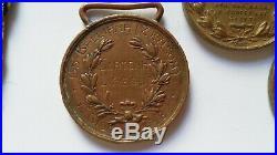 Lot Médailles Italie 1918 AL VALOR MILITARE bronze FG ORIGINAL MEDAL GROUP WWI