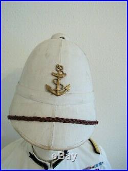 Lot Tenue Blanche Uniforme Casque Officier Supérieur Des Troupes Coloniales