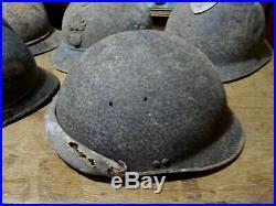 Lot casques 14-18 tankiste et divers et 39-45 militaria