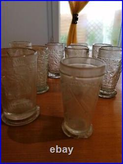 Lot de 10 verres allemand ww1