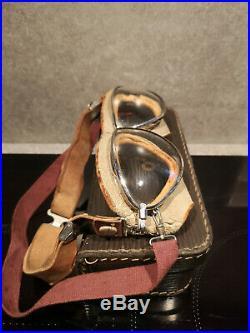 Lunettes d'aviateur OTO Militaria WW1, WW2, lunettes règlementaires de pilote