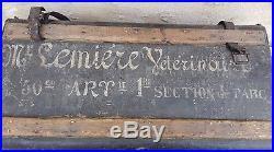 Malle militaire 50 éme RA 1ére section de parc véterinaire Lemiére/WW1/WWI