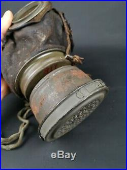Masque À Gaz Allemand Ww1 Gummimask Modèle 1917 Complet Poilu