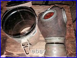 Masque à gaz allemand ww1 Lederschutzmask
