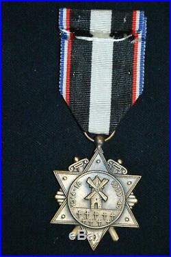 Medaille De L'aisne & Du Chemin Des Dames-grande Guerre 1914/1918 & Guerre 1939