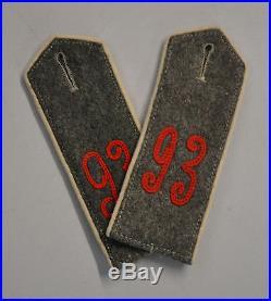 Paire De Pattes D Epaules Allemande 14-18 Originales 93 Regiment Occasions