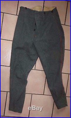 Pantalon Feldgrau Allemand, 1 ère guerre mondiale, belle copie. A voir