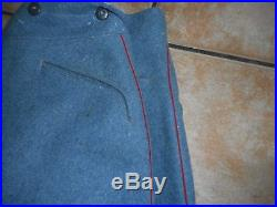 Pantalon Fr Troupe Poilu Bleu Horizon Mle 1915 D Artillerie