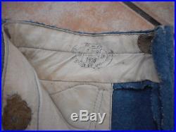 Pantalon Troupe De Poilu Mle 1915 Datee 1918 Liserai Vert Train Des Equipages