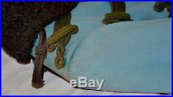 Pelisse bleue dofficier de cavalerie légère et de spahis modèle 1889