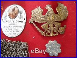 Petit Lot D Un Poilu Et Allemand En 1914/1918 Provient Brocante De L Oise