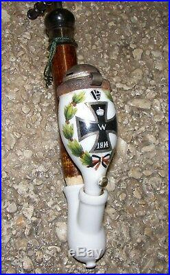 Pipe allemande patriotique grosse croix de fer 1914 porcelaine