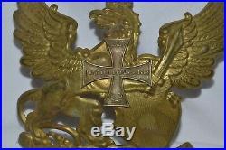 Plaque Casque A Pointe Officier Badois Reserve-german Spiked Helmet Plate Bade