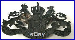 Plaque de casque à pointe bavarois mod. 1915