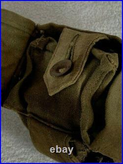 Pochette masque gaz cartouche leder gummi Allemand WW1 1914 1918 tranchée