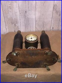 Poilu wwI 14-18 objet de tranchée Unique Horloge Avec Obus De 75
