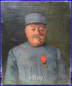 Portrait d'officier d'infanterie de 14/18. Légion d'honneur. Daté 1917