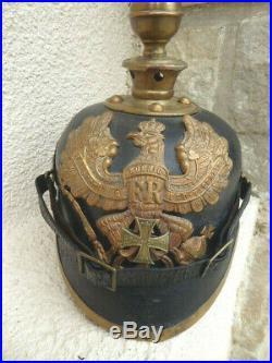 Prusse 1914 1918 casque a pointe Artilleur troupe 1895 Reserviste