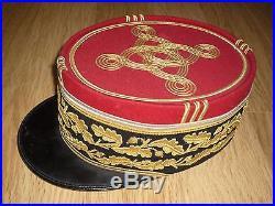 Rare Kepi General Armee Corps Armee Grande Tenue 1931 Visiere Jonc En Cuir Bidal