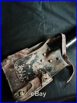 Rare Ancienne pelle militaire et son étui cuir lefebvre 1915 militaria ww1