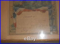 Rare Cadre De Pilote 1915/1918 Citation A L Ordre De L Armee Escadrille 57