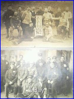 Rare Carnet De Poilu Et Cartes Photos Prisonniers De Guerre 14 18 Ww1 Annotees