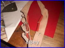 Rare Cartouchiere Bandouliere Cuir Rouge Fr De Spahis Mle 1918