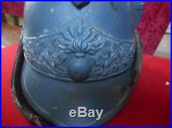 Rare Casque Fr De Cuirassier A Pied Bleu Horizon Mle 1913