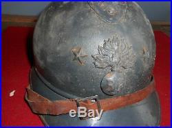 Rare Casque Fr Off Adrian Mle 1915 De General 2 Etoile Bleu Horizon