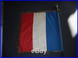 Rare Drapeaux Du 1 Rgt De Zouave Avec Citation 1914/1915
